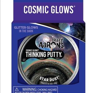Crazy Aaron's Cosmic Glows thinking Putty Stardust